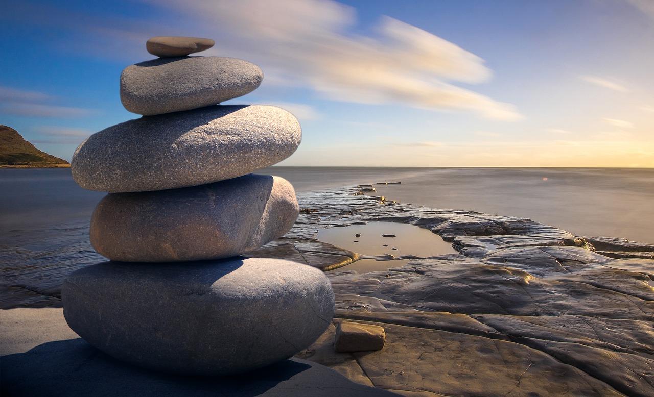 image: feng shui zen stones water