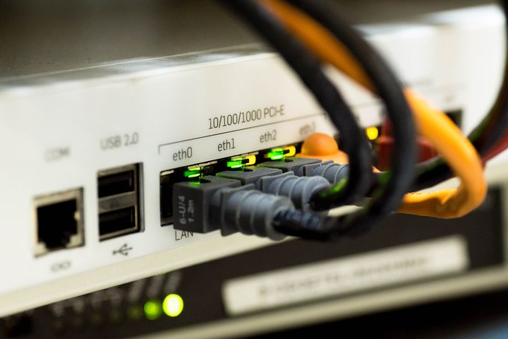 image: ethernet network cables computer