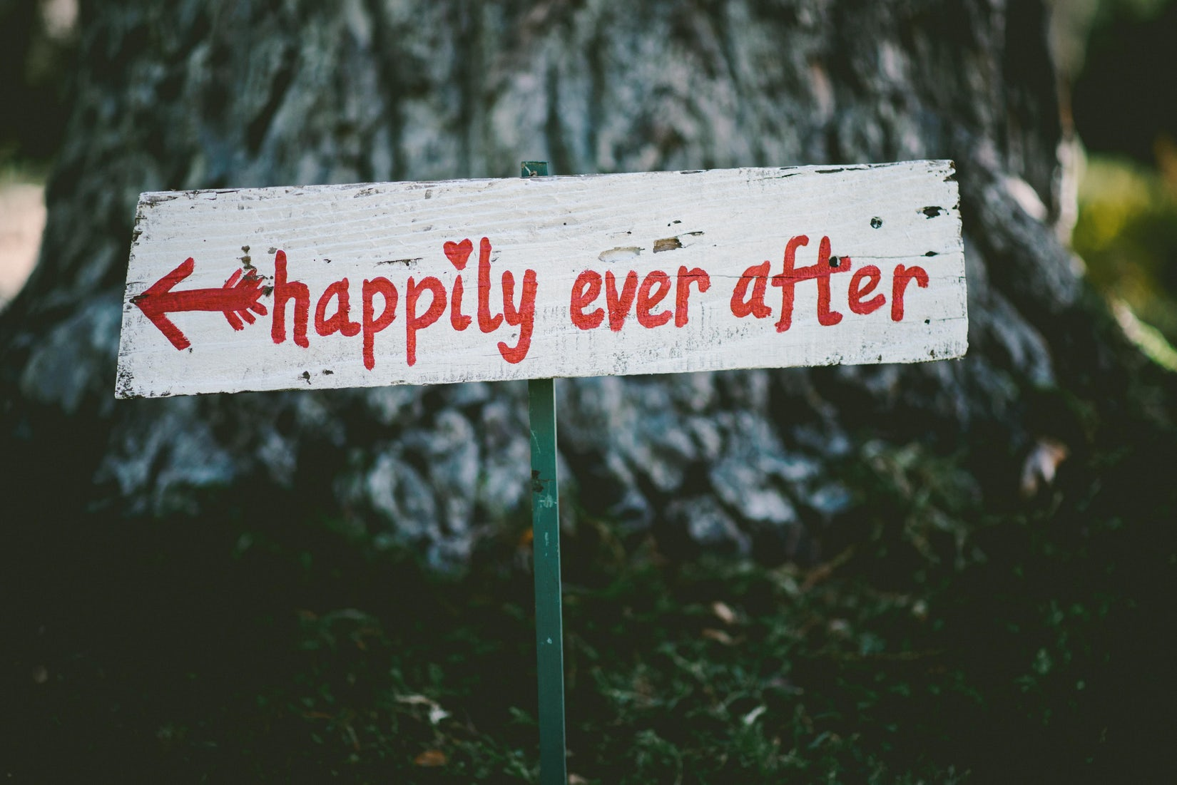 image: happily ever after signpost